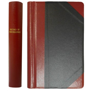 Record of Proceedings Minute Book