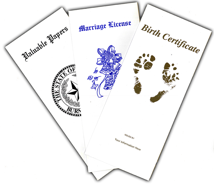 Printed Document Holders